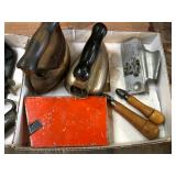 ANTIQUE IRONS AND TOOLS