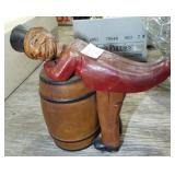 GERMAN WOOD FIGURAL DISPENSER
