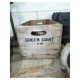 ANTIQUE WOOD GREEN GIANT BOX