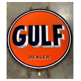 "66"" Gulf Dealer Sign W/ Ring"