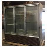 3-Door Glass Refrigerator