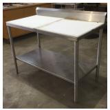 Stainless Steel Tables with Cutting Boards