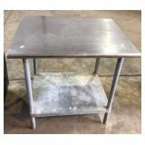 """30"""" X 36"""" Stainless Steel Table"""
