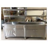 "Servolift Model 502-4R-CW Heated Serve Line 29"" X 93"" X 64"" High."