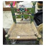 CHILD DECORATED SLAT BACK CHAIR