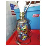 JAR OF MARBLES LAMP