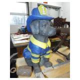 CONCRETE DOG FIREMAN