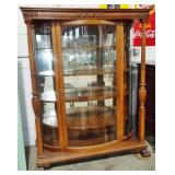 FANCY BOWED GLASS CHINA CABINET