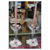 PAIR WATERFORD CRYSTAL CANDLESTICKS
