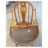 EARLY WINDSOR STYLE HIGH CHAIR
