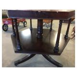 UNDERSIDE OF LEATHER TOP TABLE