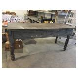 EARLY TURNED LEG KITCHEN WORK TABLE