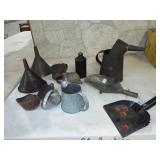 EARLY ASSORTED TOLE WARE ITEMS