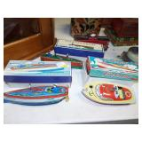 RACING TOY BOATS WITH ORIGINAL BOXES