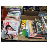 ASSORTED TV GUIDES AND CHILDREN BOOKS