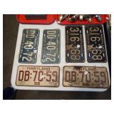 MANY ANTIQUE MARYLAND TAGS