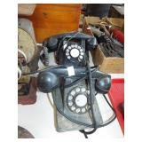 2 ANTIQUE ROTARY DIAL PHONES