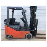 #8 Toyota 8FGCU15 3000 lb Forklift