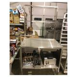"""36"""" Stainlesss cabinet with adjustable back"""