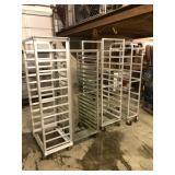 Assorted bakery racks