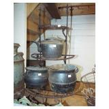 CAST IRON GYPSY POTS AND TEA KETTLE