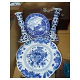 ASSORTED BLUE CHINA PIECES