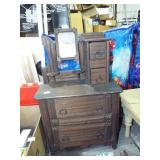 SMALL DOLL SIZE TRAMP ART CHEST