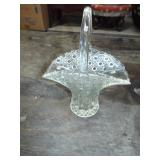 GLASS BUTTON AND DAISY BASKET