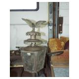 BRASS EAGLE TOP CARRIAGE LAMP