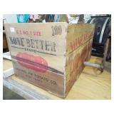 EARLY WOODEN POTATO BOX