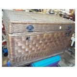 WICKER CARRIAGE CHEST
