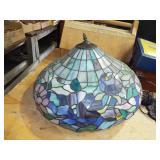 RETRO LEADED GLASS LAMP SHADE
