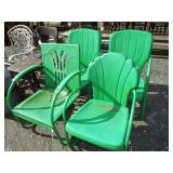 MID CENTURY METAL LAWN CHAIRS