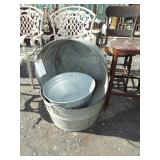 OLD GALVANIZED TUBS