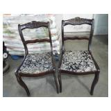 ROSE CARVED MAHOGANY CHAIRS