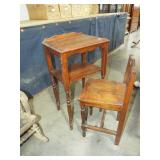 TELEPHONE GOSSIP TABLE AND CHAIR