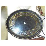 EARLY OVAL TOLEWARE TRAY
