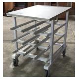 "Bakery Rack/Table Combo 26"" X 35"" X 35"" high."