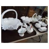 RETRO MILK GLASS DISHES