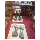 STERLING NUT BOWLS AND SILVERPLATE