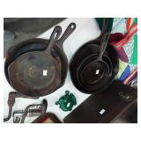 CAST IRON FRY PANS