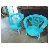 RETRO WICKER ARM CHAIRS