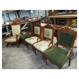 VICTORIAN PARLOR CHAIR SET