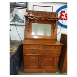 FANCY CARVED MIRRORBACK SIDEBOARD