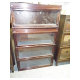 4 DOOR STAKCING BOOKCASE