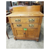 EARLY OAK WASHSTAND