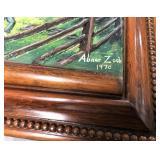 """Lot 1) Abner Zook 1970 3D Thrashing Artwork 25"""" X 44"""""""