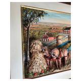 """Lot 2.) Aaron Zook 1986 3D Harvesting Artwork 20"""" X 36"""""""