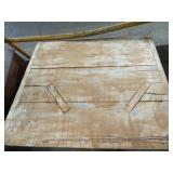 TOP OF BENCH TABE WITH BUTTERFLY REPAIRS