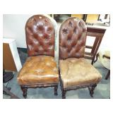 2 BUTTON & TUFTED SIDE CHAIR
